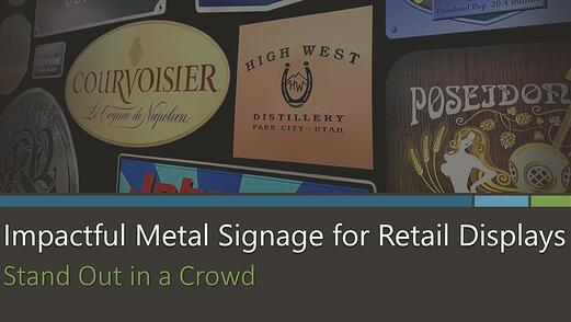 Impactful Metal Signage for Retail Displays by McLoone