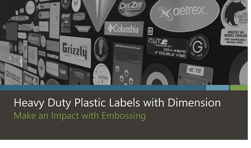 Heavy Duty Plastic Labels with Dimension eBook by McLoone