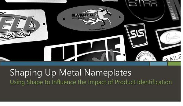 Shaping Up Metal Nameplates eBook by McLoone